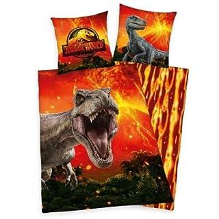 Jurassic Bettwäsche World T-Rex Dinosaurier Dinos 135 x 200 cm Geschenk Wow - All-In-One-Outlet-24 -