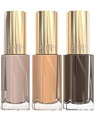 L'Oréal Paris Make Up Designer Coffret 3 Vernis à Ongles Nude - Collection Kristina Bazan