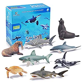 Sea Animal Toys for kids Educational Animal Learning Figures with Gifts Box for Boys Girls Birthday