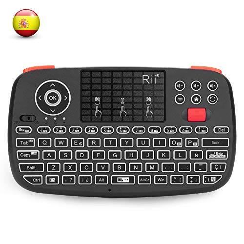 Rii i4 Mini bluetooth teclado inalámbrico retroiluminado