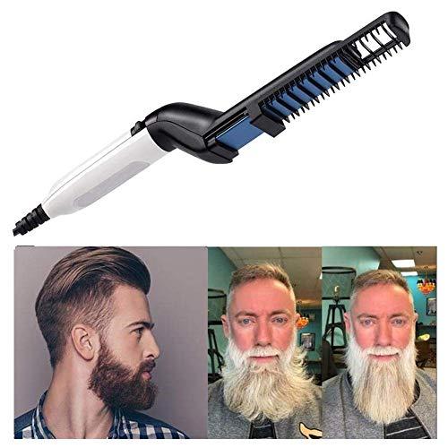 Lomire® Alisador de barba peine electrico, Peine eléctrico Barba para hombre Peine de peinado Multifuncional rápido Rizadores para el cabello Plancha de pelo mágico Masaje Herramienta