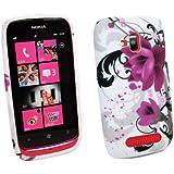 Mocca Design Gel Frost Coque pour Nokia Lumia 610 Violet