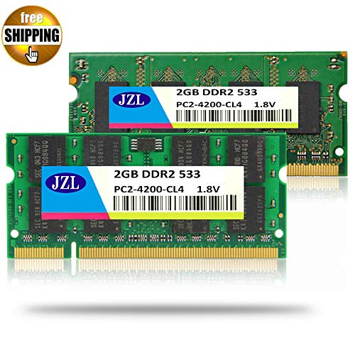 HAMISS Laptop Memory Ram SODIMM PC2-4200 DDR2 533MHz 200PIN 2GB / PC2 4200 DDR 2 533 MHz 200 PIN 1.8V CL4 Notebook Computer SDRAM -