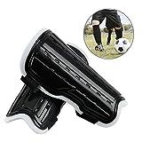 Escudos de fútbol para niños, EarthSave 1 par espinilleras, protector de pantorrilla unisex, ligero y transpirable Apto para niños de 6-10 años de edad, niñas, niños, adolescentes (Negro)