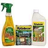 Xyladecor Teak-Möbelöl farblos 0,75L + Möbelreiniger + Teakholzreiniger SET