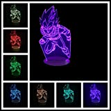 Vegeta (Dragon Ball) Lámpara Led 3D