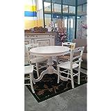 Mesa de madera redonda de color blanco mate extensible, Varios Tamaños–como en las fotos