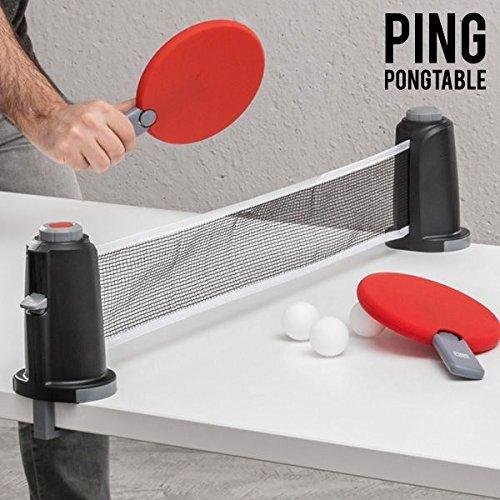 Apolyne Portable Juego de Mesa Portátil Ping Pongtable, Unisex Niños, Multicolor, Talla Única