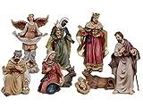 Articoli Religiosi by Paben Set Presepe in Resina 9 soggetti in Resina cm. 11