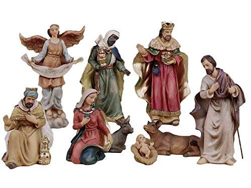 Articoli religiosi by paben set presepe completo in resina 9 soggetti in resina cm. 11