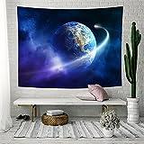 LLHBE Galaxis Tapisserie Star Universum Milchstraße Weltraum Polyester Stoff Wandbehang Dekorationen Bohemien Wandteppiche Tischdecke Yoga Matte (200 * 150 Cm),A