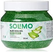 Amazon Brand - Solimo 90% Aloe Vera Gel with Vitamin E (for Skin & Hair) - 50