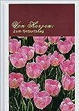 """Handmadegruss Text&Motiv """"Zum Geburtstag -Von Herzen"""