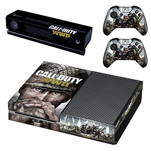 Call of Duty: WWII Xbox One Skin Sticker Vinyl Aufkleber Schutzfolie zum Konsole & 2 Controller NEU (Zombie Xbox One Controller)