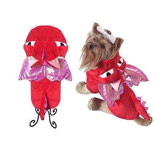 Halloween Hund Drache Kostüm Motorradfahrer Kleidung Hund Dinosaurier Kostüm Cat Outfits Winter Warm Fleece Dog Pet Cat Jacke Mantel Hoodie