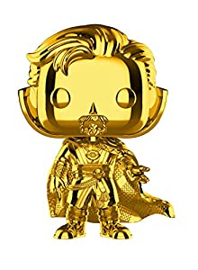 Funko- Pop Bobble Marvel Studios 10: Doctor Strange (Chrome) Figura Coleccionable, (38481)