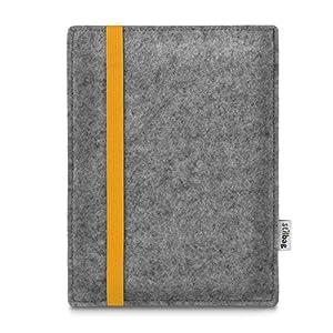 Stilbag maßgeschneiderte eReader-Hülle LEON | Farbe: hellgrau-gelb | eBook Reader Tasche aus Filz | e-Reader Schutzhülle | Tasche Made in Germany