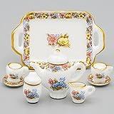 Odoria 1/12 Miniatur Geschirr 8 Stück Chinesisch Teeservice Set Für Barbie Puppenhaus Küchen