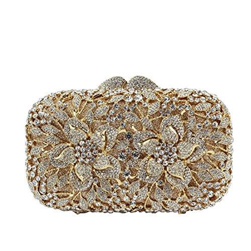 Weiblich Abendtasche Luxus Diamanten Kristall Handtasche Yellow