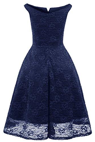 TOSKANA BRAUT Damen Vintage Spitze Armlos Abendkleider Cocktailkleider Partykleider Tanzenkleider Kurz