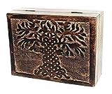 budawi- Holztruhe Lebensbaum Mangoholz 21 x 16 cm Holzbox Holzkiste Schmuckkästchen