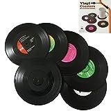 """Bllatta Vinyl Untersetzer Tischsets Schallplatte Retro Style """"Records CD""""(6er Set)"""