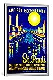 kunst für alle Bild mit Bilder-Rahmen: German School On The Reeperbahn St Pauli Poster Advertising Hamburg 1936