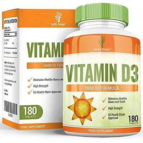 Vitamina D3, 5000 UI – Dose raccomandata, importante contributo per