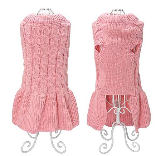 Pet Pullover Kleid Kleidung Strickmantel Kostüme Anti-Falten, Anti-Pilling, Anti-Shrinkage, Anti-Shrinkage für Chihuahua Yorkie Teddy Größe S M L XL