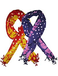 Goodluck Cotton Scarf Set Of Two Mullticoloured Stoles; Scarf And Stoles For Women … - B06X8Z3M39