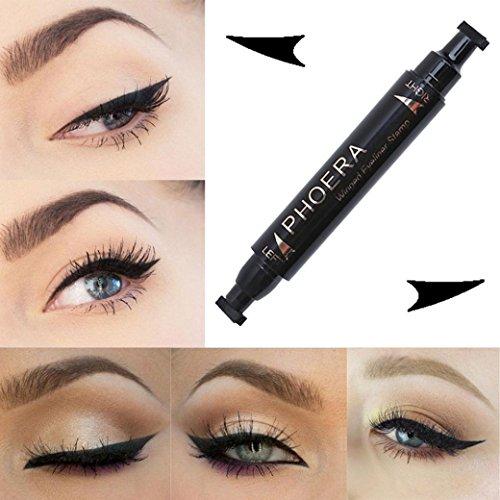 gaddrt 2018 Make-up Wasserdicht Cat Eye Wing Eyeliner Stempel Werkzeug Doppelkopf Einfach zu