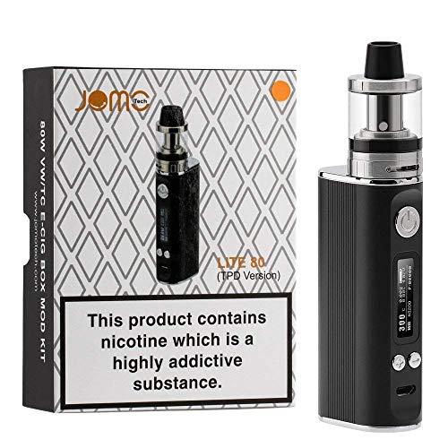 JOMO TECH Lite 80W Sigarette elettroniche Potenza regolabile in 5,0-80W Controllo della temperatura con schermo OLED Top Fill Atomizer 2.0ml / 0.4 oHm Resistance Niente nicotina o tabacco
