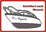 Bootsname Beschriftung Wunschtext Logo Werbung für Boot Sportboot Schlauchboot 40 cm 40 cm 40 cm Schwarz Schwarz Schwarz
