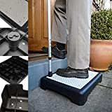 AA-SS-Outdoor Step Half Paso, Plataforma elevada con Patas Ajustables para Movilidad Limitada, Equilibrio y coordinación, Gran área de Superficie para Movilidad de Personas Mayores