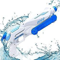 MOZOOSON Pistolet à Eau Puissant Haute Capacité et Longue Distance pour Enfants et Adultes, Jouets d'été Plein Air