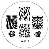 CH2 Plaque Nail Art Pochoirs Nouveaux Designs Stamping Manucure Nailart par Cheeky