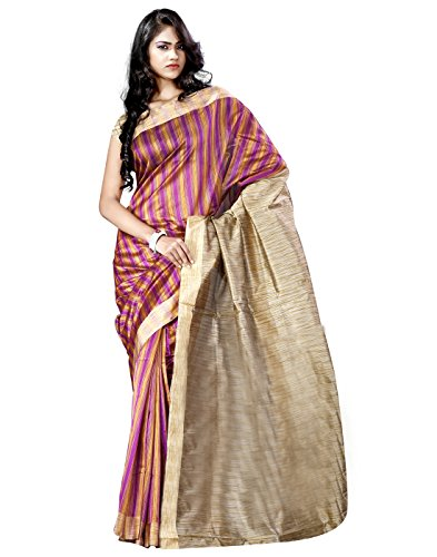 E-Vastram Cotton Silk Saree With Blouse Piece (Kmr -Pink)