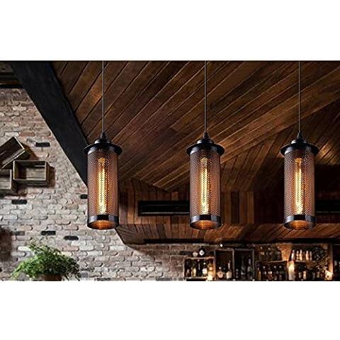 Industria rurale vento lampadario in ferro,50cm striscia coppa a