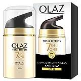 Olaz Crema Total Effects 7 in 1 Idratante Giorno Anti-Età, Contro 7 Segni di Invecchiamento per Una Pelle Luminosa - 50 ml