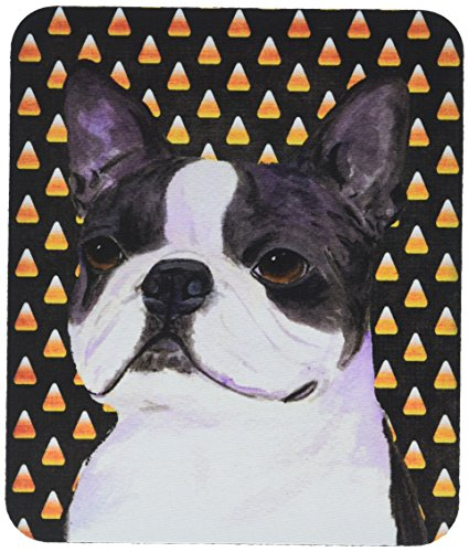 Caroline's Treasures SS4309MP Boston Terrier Candy Corn Halloween Portrait Mauspad/Untersetzer (Terrier Boston Halloween)
