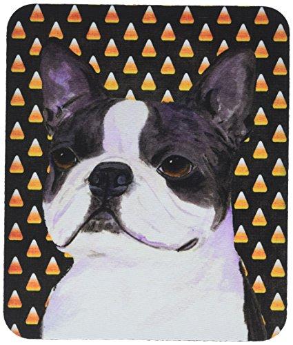 Caroline's Treasures SS4309MP Boston Terrier Candy Corn Halloween Portrait Mauspad/Untersetzer