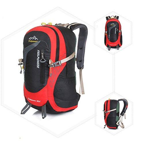 I nuovi campeggio zaino sacchetti esterni di alpinismo professionale di guida sacchetto impermeabile ultraleggero Rosso con il nero