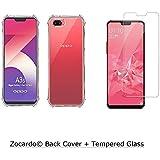 Zocardo Transparent Back Cover & Tempered Glass for Oppo A3s