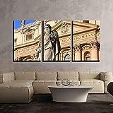 ksjdjok Lienzo Arte de la Pared Satue de Saint Peter Maderno Fachada San Pedro Basílica Ciudad del Vaticano Roma Decoración para el hogar Moderna 40X60 cm 3 Piezas sin Marco