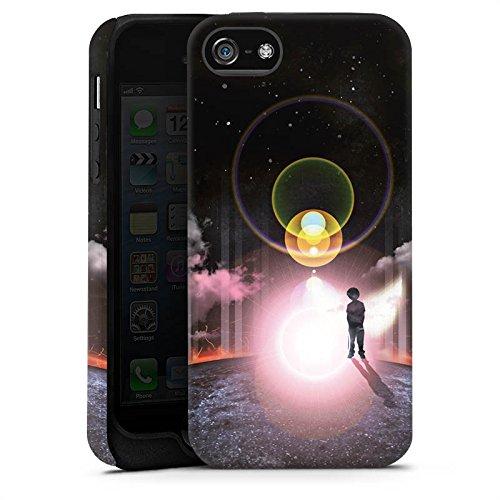 Apple iPhone X Silikon Hülle Case Schutzhülle Galaxie Wolken Kind Tough Case matt