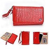 'Kroo cocodrilo universal Smartphone Wristlet-Funda tipo cartera para OPPO R819/Neo funda para rojo rosso