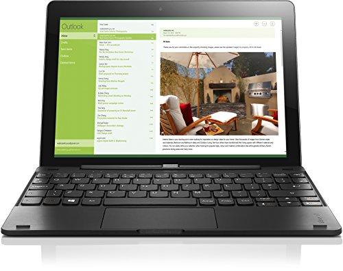 Lenovo Miix 300-10 25,65 cm (10,1 Zoll HD) Tablet-PC (Intel Atom Z3735F Quad-Core Prozessor, 2GB RAM, 32GB eMMC, Touchscreen, Windows 10 Home) schwarz inkl. AccuType Tastatur