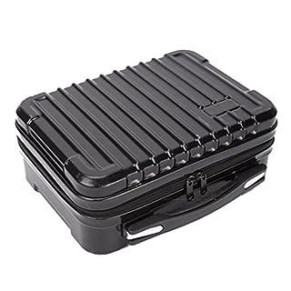 Colinsa Aluminium Box Portable Small Storage Box Sponge Lining Handheld Organiser Aluminium Case Tool Box Black
