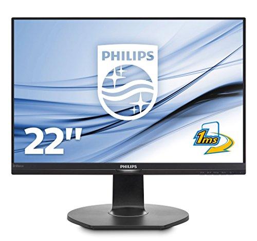 Philips 221B7QPJEB/00 54 cm (21,5 Zoll) Monitor (VGA, HDMI, Displayport, 2x USB 3.0, 1920 x 1080, 5 ms, Pivot), schwarz
