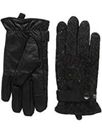 isotoner Men's Smartouch Nep Knit Leather Gloves